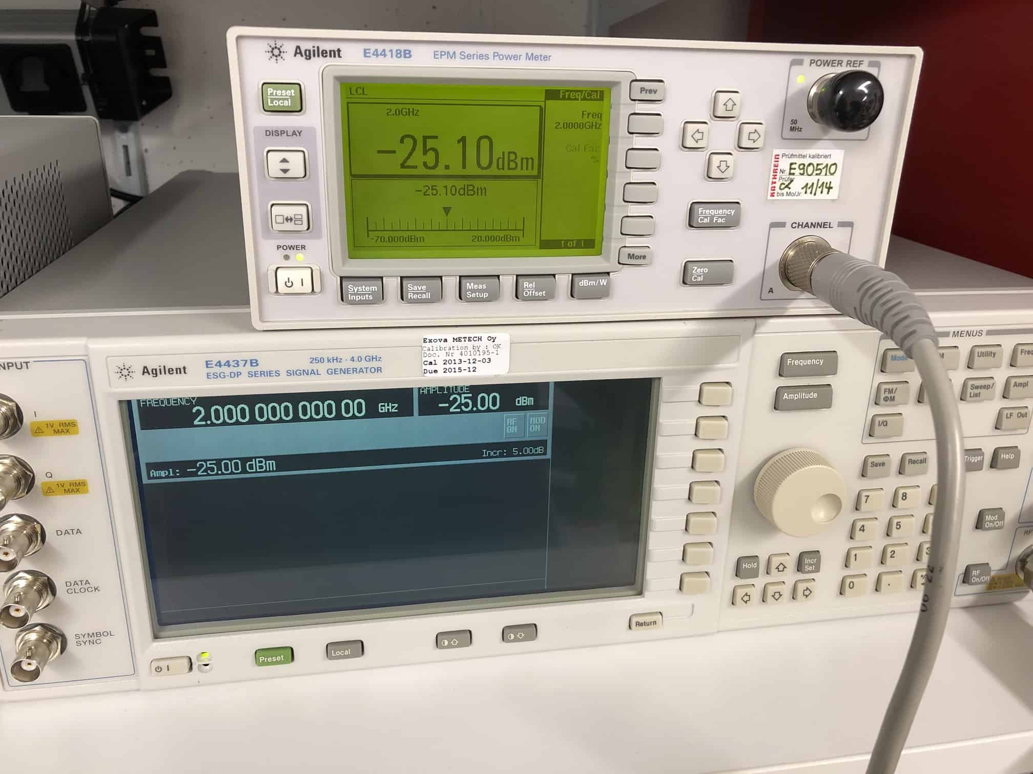 Neues Device im Lab: Agilent E4437B! 😍
